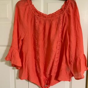 Top with 3/4 sleeves